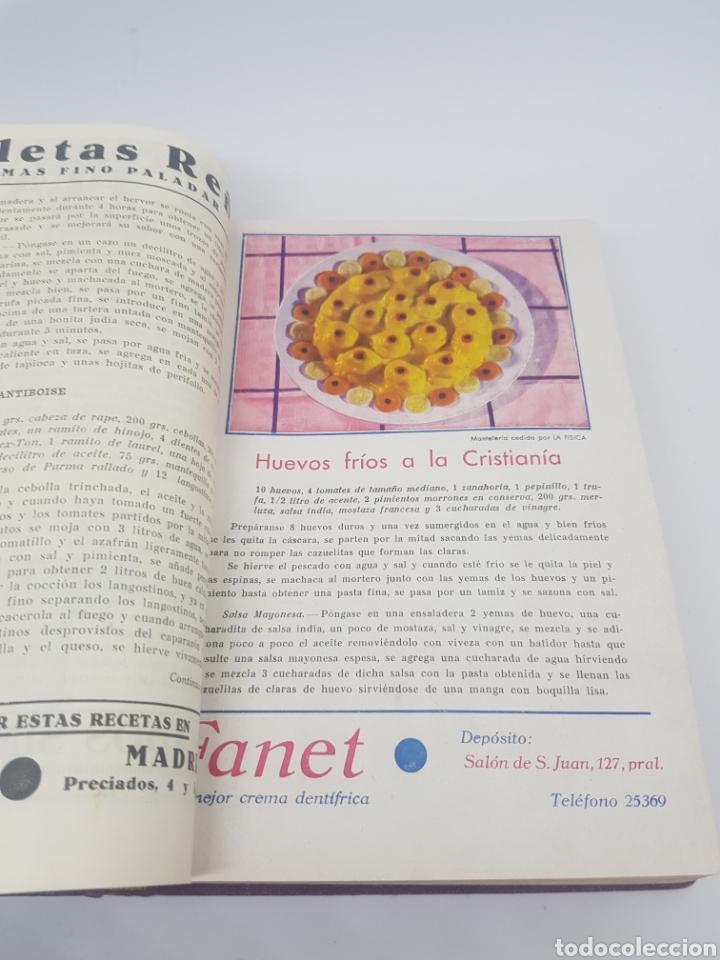 Libros antiguos: Tomo de la revista menaje de cocina año 1933 época República española - Foto 8 - 165183885