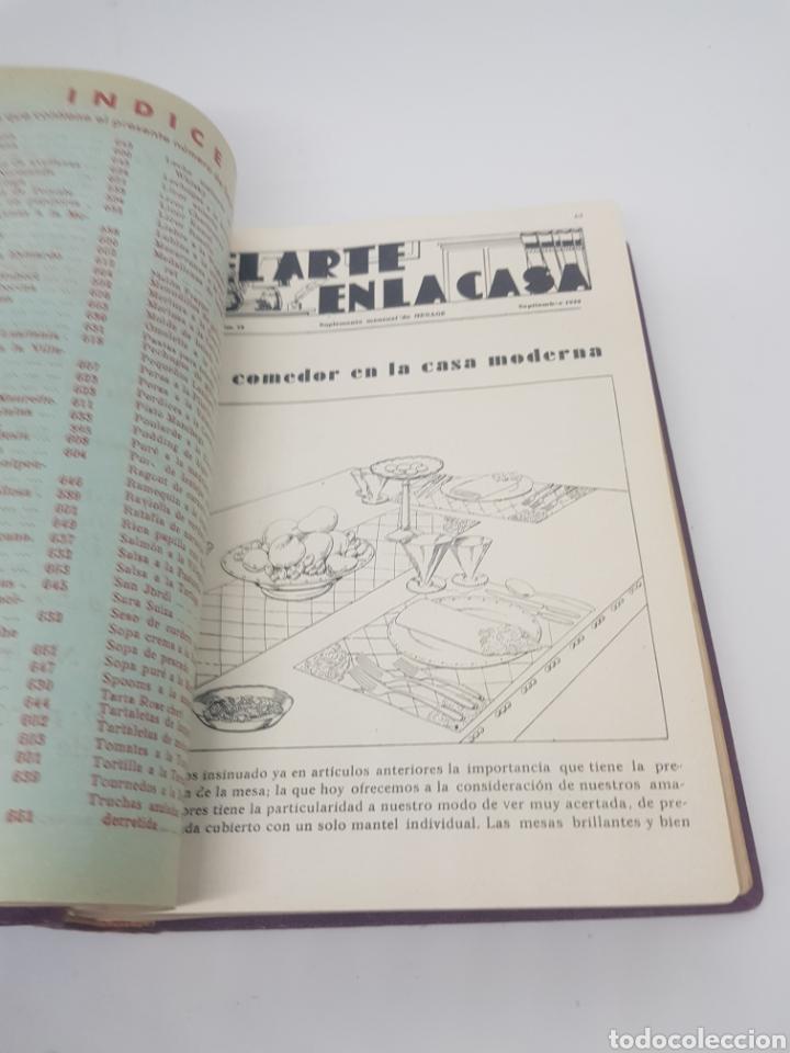 Libros antiguos: Tomo de la revista menaje de cocina año 1933 época República española - Foto 9 - 165183885