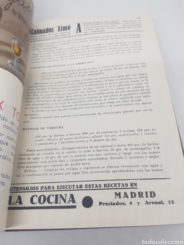 Libros antiguos: Tomo de la revista menaje de cocina año 1933 época República española - Foto 11 - 165183885