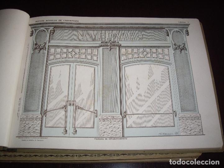 Libros antiguos: CARPINTERIA - NUEVOS MODELOS - TRES TOMOS - Foto 4 - 165194366