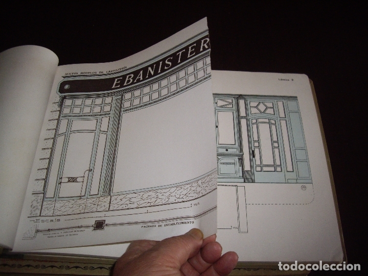 Libros antiguos: CARPINTERIA - NUEVOS MODELOS - TRES TOMOS - Foto 5 - 165194366