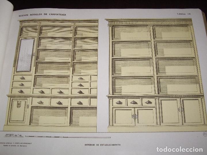 Libros antiguos: CARPINTERIA - NUEVOS MODELOS - TRES TOMOS - Foto 7 - 165194366