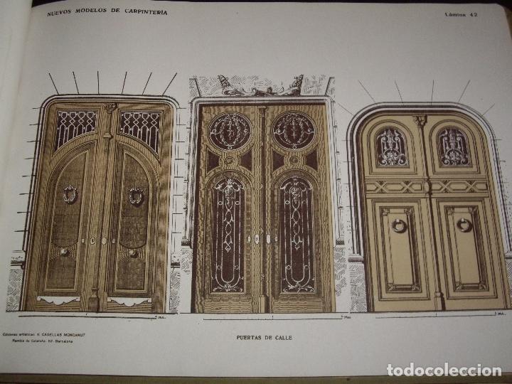 Libros antiguos: CARPINTERIA - NUEVOS MODELOS - TRES TOMOS - Foto 8 - 165194366