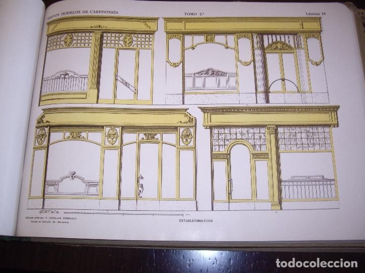 Libros antiguos: CARPINTERIA - NUEVOS MODELOS - TRES TOMOS - Foto 11 - 165194366