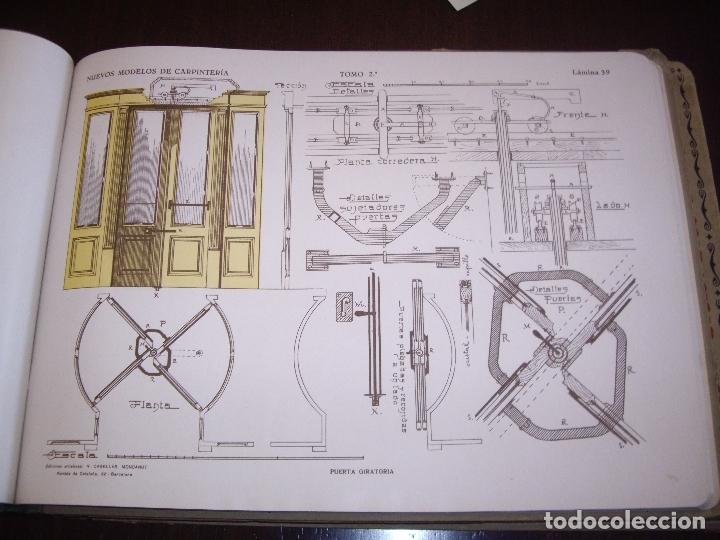 Libros antiguos: CARPINTERIA - NUEVOS MODELOS - TRES TOMOS - Foto 12 - 165194366