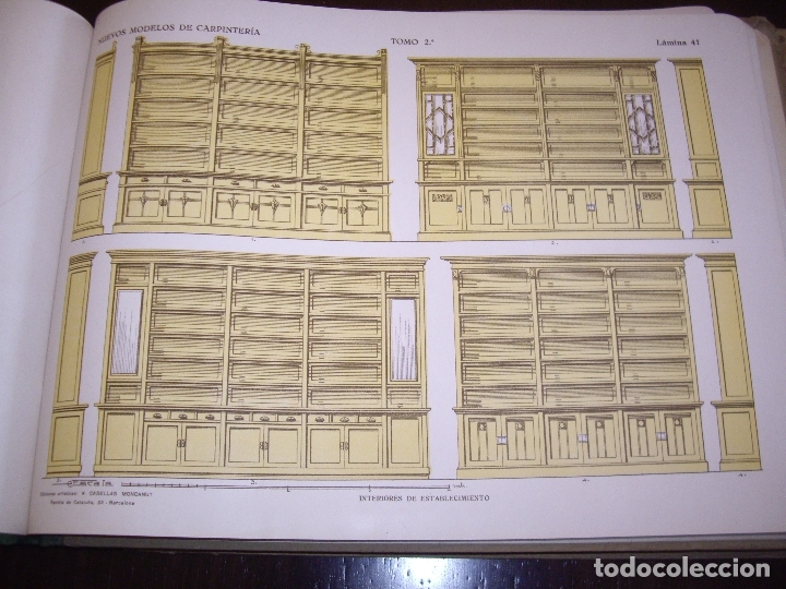 Libros antiguos: CARPINTERIA - NUEVOS MODELOS - TRES TOMOS - Foto 13 - 165194366