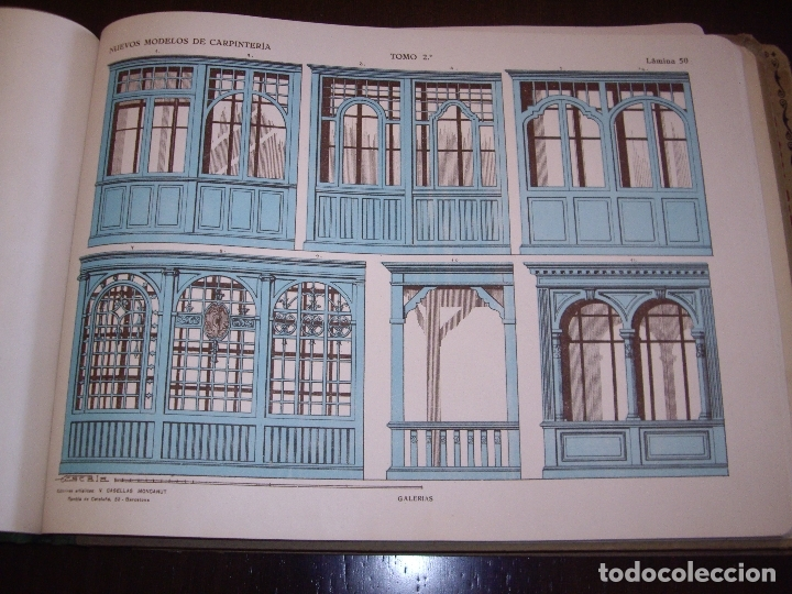 Libros antiguos: CARPINTERIA - NUEVOS MODELOS - TRES TOMOS - Foto 15 - 165194366