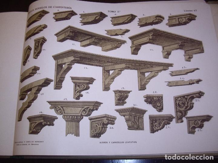 Libros antiguos: CARPINTERIA - NUEVOS MODELOS - TRES TOMOS - Foto 16 - 165194366