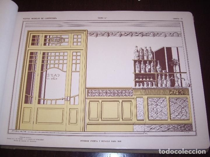 Libros antiguos: CARPINTERIA - NUEVOS MODELOS - TRES TOMOS - Foto 20 - 165194366