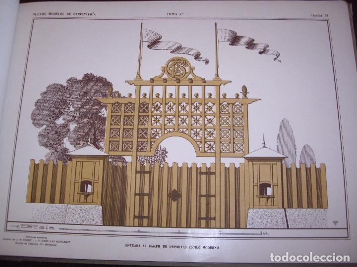 Libros antiguos: CARPINTERIA - NUEVOS MODELOS - TRES TOMOS - Foto 24 - 165194366