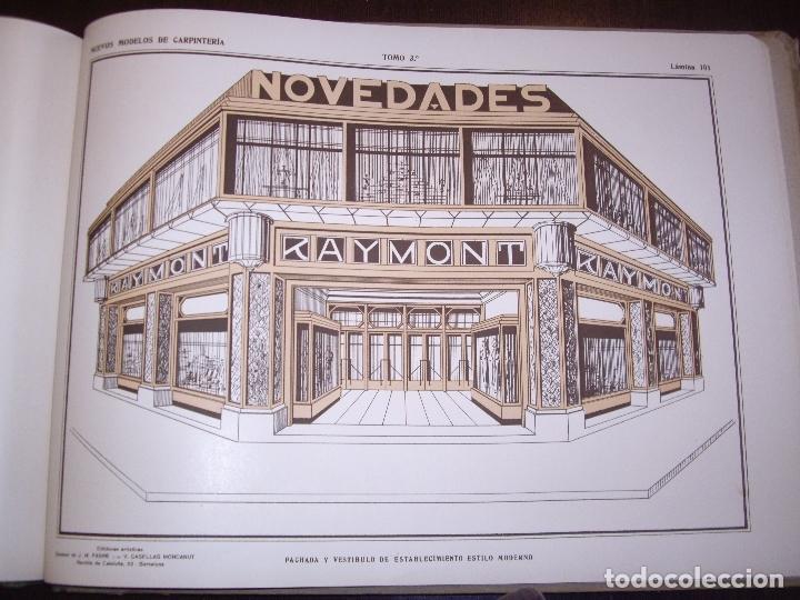 Libros antiguos: CARPINTERIA - NUEVOS MODELOS - TRES TOMOS - Foto 27 - 165194366