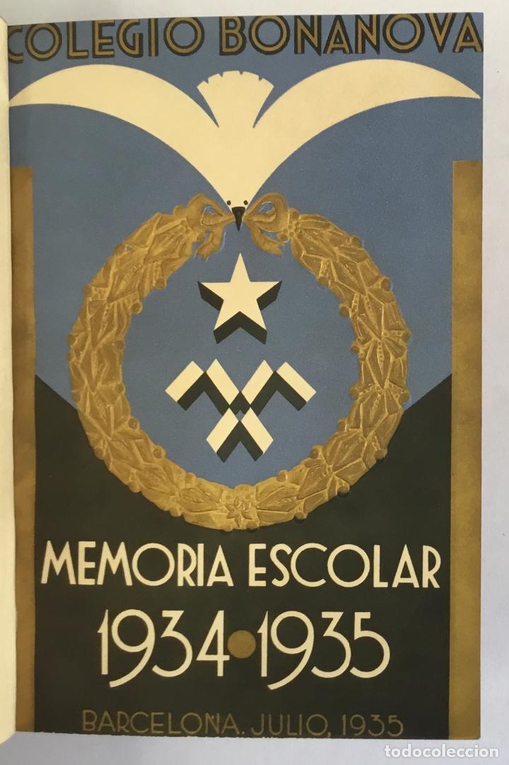 COLEGIO BONANOVA. MEMORIA ESCOLAR 1934-1935. (Libros Antiguos, Raros y Curiosos - Historia - Otros)