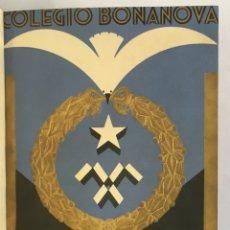 Libros antiguos: COLEGIO BONANOVA. MEMORIA ESCOLAR 1934-1935.. Lote 165210206