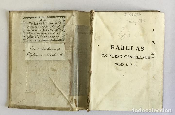 Libros antiguos: FABULAS EN VERSO CASTELLANO PARA EL USO DEL REAL SEMINARIO BASCONGADO... SAMANIEGO, Félix María. - Foto 2 - 165216982