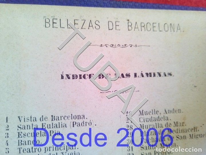 Libros antiguos: 1875 50 ALBUMINAS BELLEZAS DE BARCELONA MARAVILLOSO Y RARISIMO ALBUM EN COMERCIO G6 - Foto 11 - 49974629
