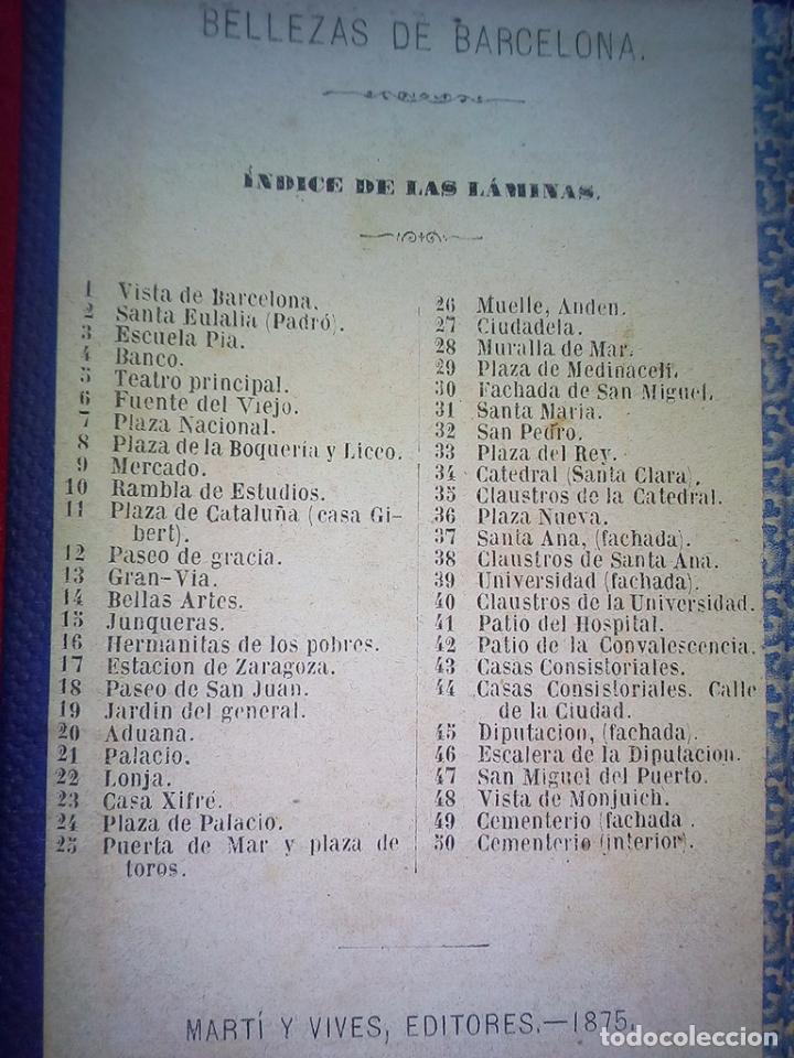 Libros antiguos: 1875 50 ALBUMINAS BELLEZAS DE BARCELONA MARAVILLOSO Y RARISIMO ALBUM EN COMERCIO G6 - Foto 2 - 49974629