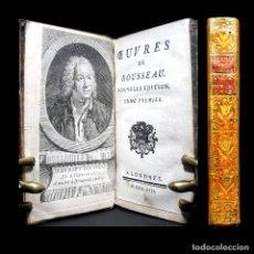 Libros antiguos: AÑO 1753 ROUSSEAU EXTRAORDINARIO GRABADO FRONTISPICIO ODAS Y CANTATAS RARO JEAN-BAPTISTE ROUSSEAU. Lote 165268250