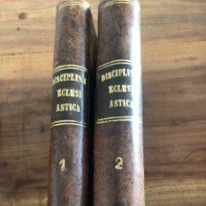 Libros antiguos: AGUIRRE, JOAQUÍN: CURSO DE DISCIPLINA ECLESIASTICA GENERAL Y PARTICULAR DE ESPAÑA. 2 VOLS. (1848). Lote 165302682