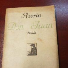 Libros antiguos: DON JUAN - AZORIN - 1927. Lote 165370656