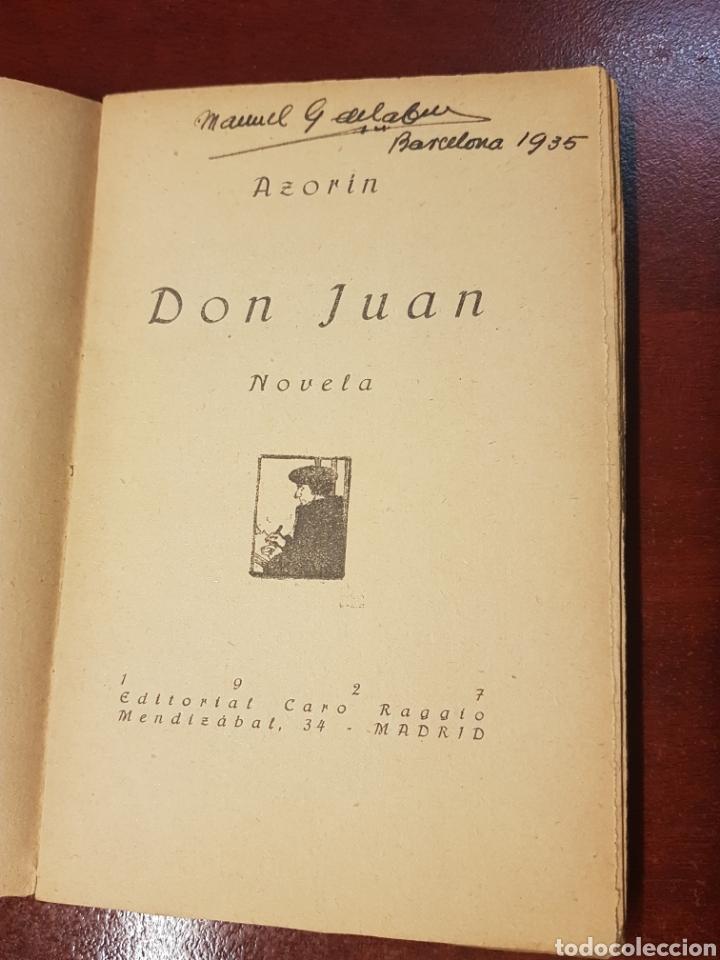 Libros antiguos: Don Juan - Azorin - 1927 - Foto 2 - 165370656