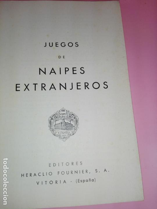 Libros antiguos: LIBRO-JUEGOS DE NAIPES EXTRANJEROS-1983-14ªEDICIÓN-EDITORES HERACLIO FOURNIER-VITORIA.VER FOTOS - Foto 3 - 165402218