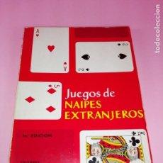 Libros antiguos: LIBRO-JUEGOS DE NAIPES EXTRANJEROS-1983-14ªEDICIÓN-EDITORES HERACLIO FOURNIER-VITORIA.VER FOTOS. Lote 165402218