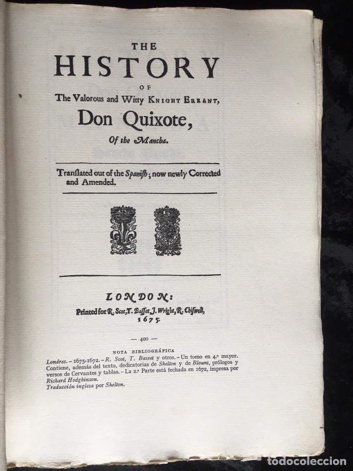 Libros antiguos: ICONOGRAFIA DE LAS EDICIONES DEL QUIJOTE - INGLESAS Y OTRAS - Foto 4 - 165633513