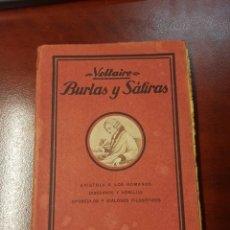 Libros antiguos: BURLAS Y SATIRAS - VOLTAIRE. Lote 165639960