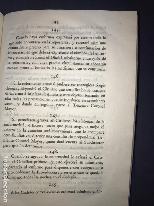 Libros antiguos: IMPRENTA REAL. 1824. REGLAMENTO para el Real Colegio General Militar Alcazar de Segovia. - Foto 3 - 165660006