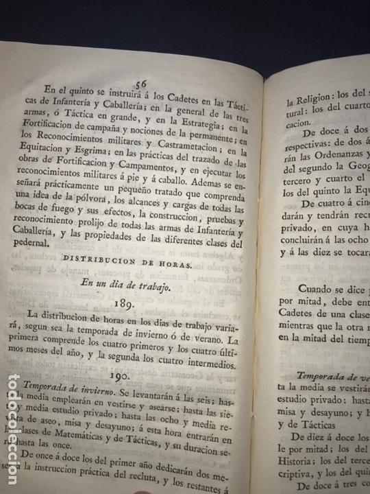 Libros antiguos: IMPRENTA REAL. 1824. REGLAMENTO para el Real Colegio General Militar Alcazar de Segovia. - Foto 4 - 165660006