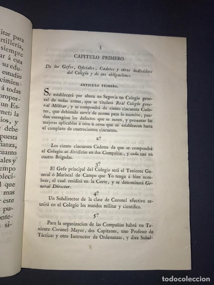 Libros antiguos: IMPRENTA REAL. 1824. REGLAMENTO para el Real Colegio General Militar Alcazar de Segovia. - Foto 2 - 165660006