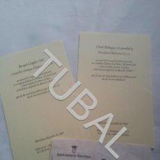 Libros antiguos: TUBAL PERE CALDERS MANOLO VALDES PRESENTACION LIBRO INVITACIONES. Lote 165669834