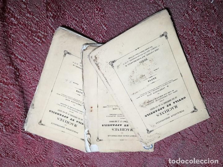Libros antiguos: machines outils et appareils employes industrie francaise et etrangere-M.ARMENGAUD AINE..PARIS s.XIX - Foto 3 - 165680002
