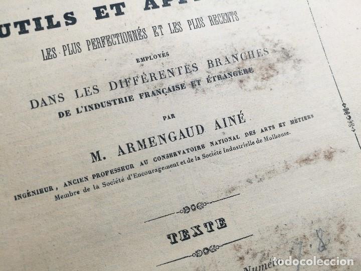 Libros antiguos: machines outils et appareils employes industrie francaise et etrangere-M.ARMENGAUD AINE..PARIS s.XIX - Foto 5 - 165680002