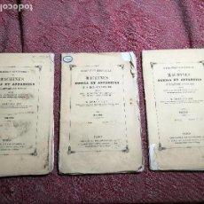 Libros antiguos: MACHINES OUTILS ET APPAREILS EMPLOYES INDUSTRIE FRANCAISE ET ETRANGERE-M.ARMENGAUD AINE..PARIS S.XIX. Lote 165680002