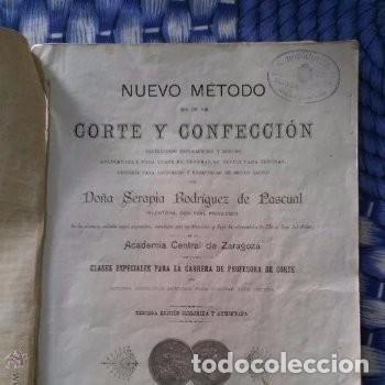 Libros antiguos: Libro de Curso de corte y confección año 1903. Completo - Foto 2 - 165690794