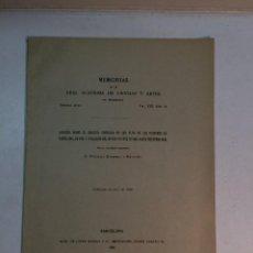 Libros antiguos: FEDERICO MASRIERA Y MANOVENS: APUNTES SOBRE EL COLEGIO COFRADÍA DE S. ELOY DE LOS PLATEROS DE BARCEL. Lote 165802206