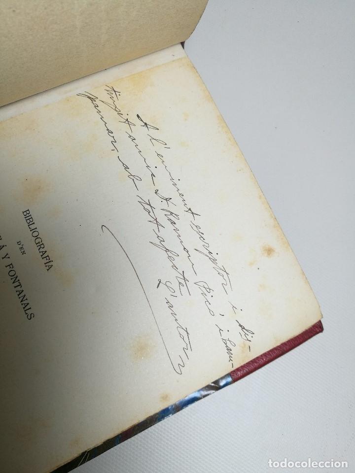 Libros antiguos: BIBLIOGRAFIA DEN MANUEL MILA I FONTANALS -J. ROIG ROQUE,1913 DEDICADO A Ramon Picó i Campanar - Foto 29 - 165822682