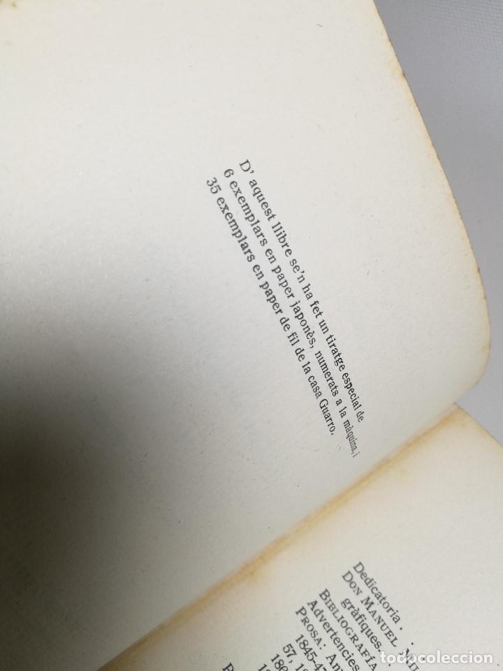 Libros antiguos: BIBLIOGRAFIA DEN MANUEL MILA I FONTANALS -J. ROIG ROQUE,1913 DEDICADO A Ramon Picó i Campanar - Foto 28 - 165822682