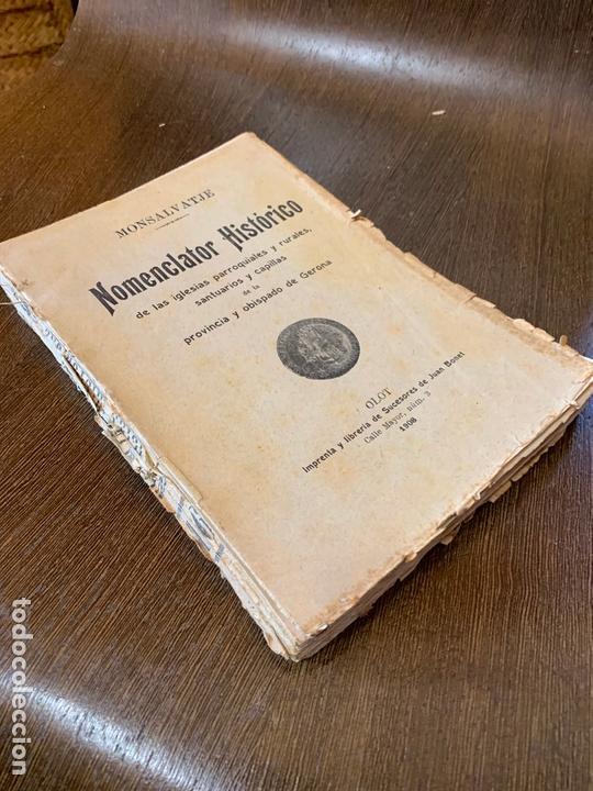 Libros antiguos: Nomenclator historico de las iglesias de Gerona. Monsalvatje. 1908. Ejemplar bibliofilos. 349pags - Foto 3 - 165840690