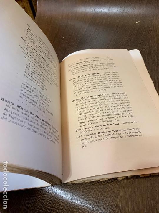 Libros antiguos: Nomenclator historico de las iglesias de Gerona. Monsalvatje. 1908. Ejemplar bibliofilos. 349pags - Foto 10 - 165840690