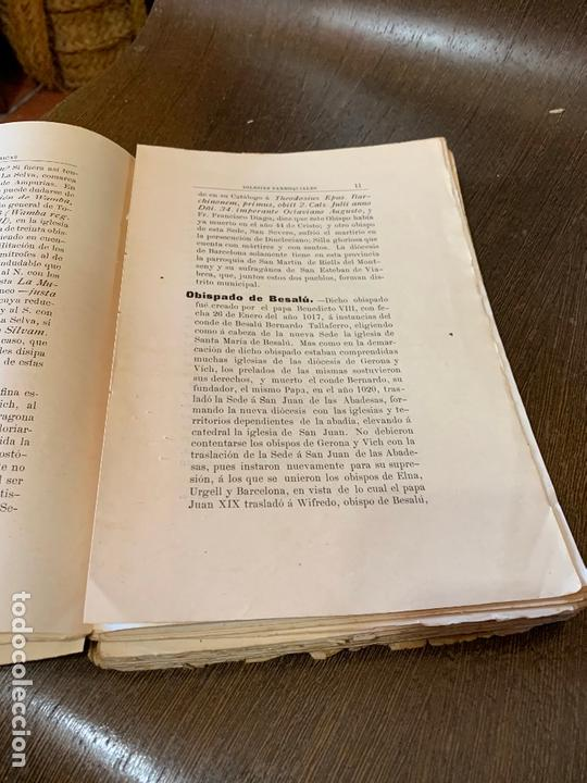 Libros antiguos: Nomenclator historico de las iglesias de Gerona. Monsalvatje. 1908. Ejemplar bibliofilos. 349pags - Foto 11 - 165840690
