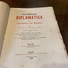 Libros antiguos: NOTICIAS HISTORICAS. CONDADO DE BESALU. MONSALVATJE. 1902. EJEMPLAR BIBLIOFILOS. 626PAGS. Lote 165844930