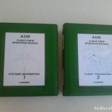 Libros antiguos: AIRBUS.A330. FLIGHT CREW OPERATING MANUAL.TOME 1 Y 2. SYSTEMS DESCRIPTION 1. FLIGHT PREPARATION 2.. Lote 165850958