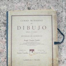 Libros antiguos: CURSO MODERNO DE DIBUJO TEXTO Y LÁMINAS AÑO 1935. Lote 165882550