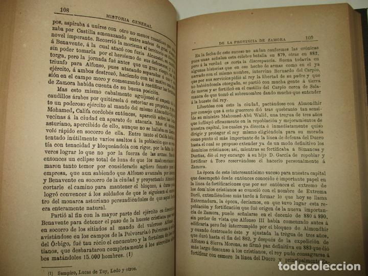 Libros antiguos: HISTORIA GENERAL CIVIL Y ECLESIÁSTICA DE LA PROVINCIA DE ZAMORA. - ÁLVAREZ MARTÍNEZ, Ursicino. 1889. - Foto 3 - 123156108