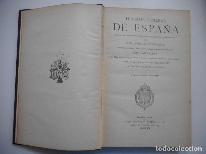 Libros antiguos: DON MODESTO LAFUENTE Historia General de España(Tomo XXII)Isabel II Libro X Y94246 - Foto 2 - 165968234