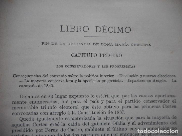 Libros antiguos: DON MODESTO LAFUENTE Historia General de España(Tomo XXII)Isabel II Libro X Y94246 - Foto 3 - 165968234