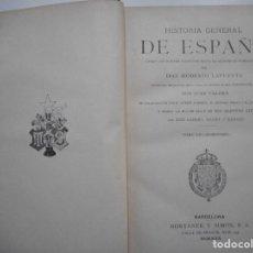 Libros antiguos: DON MODESTO LAFUENTE HISTORIA GENERAL DE ESPAÑA(TOMO XIX)AÑOS 1822 A 1833 LIBRO XI Y94250. Lote 165968886