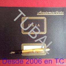 Libros antiguos: TUBAL ACADEMIA COTS LIBRO DE CAJA. Lote 166038730